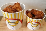 Large And Small Bucket Of Chicken